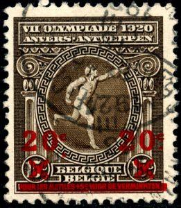 belgie-186-v-gestempeld