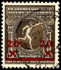 belgie-186-gestempeld