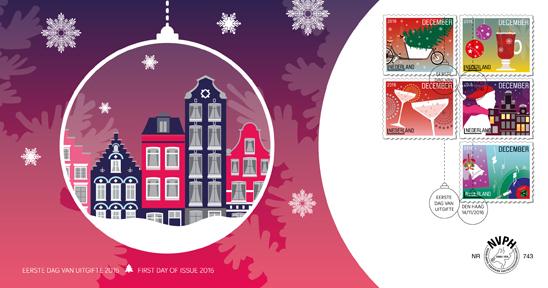 fdc_743_decemberzegels_5_zegels