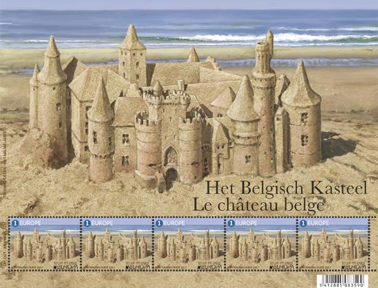 Het Belgisch Kasteel De « Europa » uitgifte