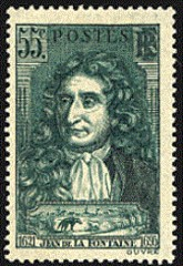 Jean de La Fontaine postzegel