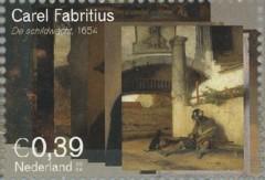 NVPH 2290 - Carel Fabritius - De Schildwacht 1654