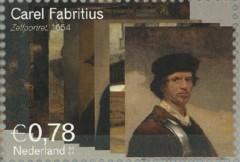 NVPH 2292 - Carel Fabritius - Zelfportret 1654