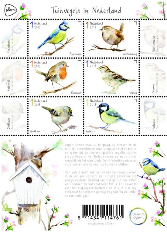 Postzegelvel Tuinvogels in Nederland
