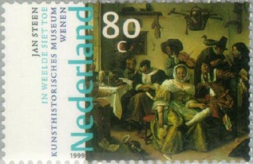NVPH 1830 - Jan Steen - In weelde siet toe