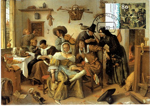 Jan Steen - In weelde siet toe