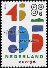 NVPH 1644 - 50 jaar geleden werd Nederland bevrijd