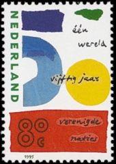 NVPH 1645 - Eén wereld, vijftig jaar Verenigde Naties